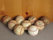 Vintage Group of 9 Official Little League Baseballs Game Balls Signatures Nice!