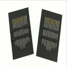 12pcs Hand Sewing Needle Double Pinhole stainless Sewing Needles Self Threading