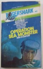 TIGERSHARK #3 OPERATION SEA MONSTER KEN STANTON 1974 MANOR #12543 1ST ED PB