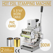 2 FOIL PAPER+STAMPING MACHINE HOT FOIL CRAFT PRINTING EMBOSSER FREE WARRANTY