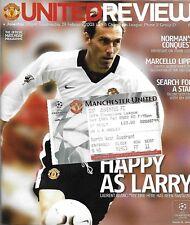 Football Programme plus Match Ticket>MAN UTD v JUVENTUS Feb 2003 UCL
