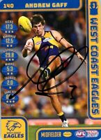 ✺Signed✺ 2018 WEST COAST EAGLES AFL Premiers Card ANDREW GAFF