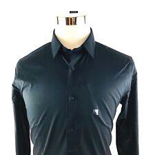 Express 1MX Modern Slim Black Stretch Dress Shirt Mens 15-15.5 Medium NWT