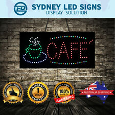 Animated LED Motion Flash CAFE Sign  For Business SIZE: 60CM X 30CM