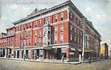Ottumwa Iowa~Ballingal Hotel~Barber Shop Pole~Billiards Sign~1907 Postcard