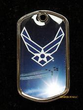 US AIR FORCE WING LOGO DOG TAG VETERAN GIFT PROMOTION GRADUATION PIN UP USAF WOW