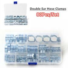 Stock Car 80x Double Ear Hose Clip Clamps 5-18mm Assortment/&Clamp Pliers Set