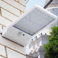 36LED Luce Giardino Lampada esterno Energia Solare Pannello Sensore movimento