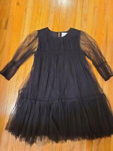 Nellystella Alice girls dress black  Size 10