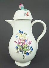 (M1103) Barocke Meissen Kaffeekanne, Blumen Malerei, Marcolini 1774-1814