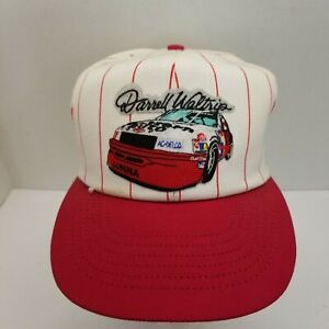 Vintage Darrell Waltrip Nascar White With Red Pinstripe Snapback Hat Racing