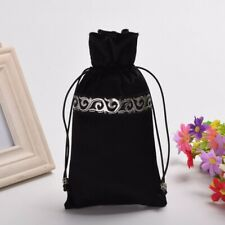 Tarot Pouch Case Handmade Wallet Purse Drawstring Wicca Cards Bag Poket Black
