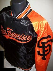 SAN FRANCISCO GIANTS MLB STARTER Snap Down Jacket Sping/Summer BLACK/ORANGE