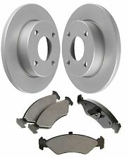 Brake Solid Discs And Pad Set Front Fits Ford Ka Rb 1.0 1.3 I 09 1996 To 01 2000