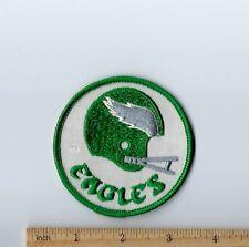 """Vintage 1980s Philadelphia Eagles 3"""" Round Patch Old Logo (sew or iron on)"""