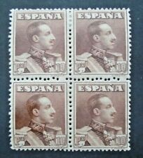 CLASSIC KING 10PTS BLOCK OF 4 OF WHICH 2 STAMPS VF MNH SPAIN ESPAGNE B36.10 099$