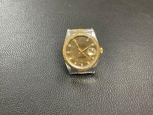 Rolex Oyster Perpetual Datejust Pied de Poule Dial Watch