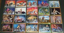 RARE Metallic Images EASYRIDERS  Motorcycles Complete 20 METAL CARD SET IN TIN