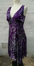 Twiggy Silk Dress 18 Evening party cruise Purple tea formal occasion