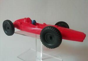 Grande Voiture de course 25 cm en plastique souple Made in France vers 1960