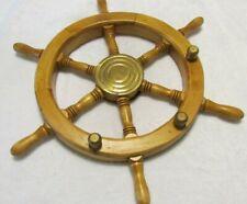Collectible Nautical Decor Wood Brass wall Decorative Ship Wheel