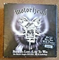 Motorhead (Import 10CD Box Set Numbered Playtested Poster) Born To Lose Live Win