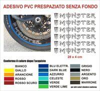 Adesivi Cerchi Moto Monster energy drink sponsor auto casco carena sticker decal