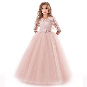 Blumenkind Prinzessin Kinder Kleid Party Ball Hochzeit Mädchen Kommunion BC638