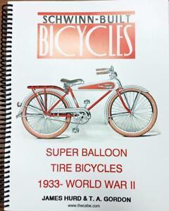 new BOOK prewar 1933-WW2 SCHWINN BUILT BICYCLES antique bike Aerocycle Autocycle
