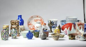 Antique Mixed Lot Porcelain/Cloisonne Japan and China 15, 18, 19th 20th c Ana...