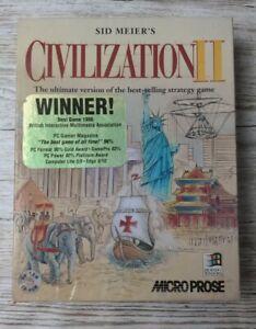 "PC Game Sid Meiers Big Box ""Civilization II"" 1996 IBM PC"