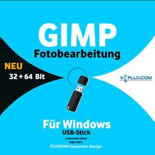 GIMP 2.10.28 USB - Digitale Bild Foto Bearbeitung Grafik Editor  Windows 7-8-10