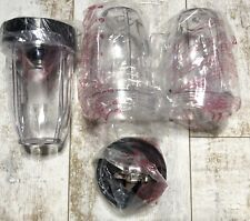 New Nutrigear Replacement  (3) Cups (2) Blades Fits Nutri Ninja