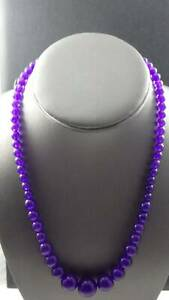 Purple Jade Graduated Strand of  Beads - 18""