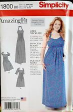 Simplicity 1800 Amazing Fit Collection Dress Princess Seams Two Lengths Personal