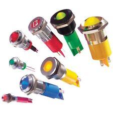 APEM q8p1cxxy12e 8mm LED PANNELLO INDICATORE GIALLO 12V DC prominente CORNICE