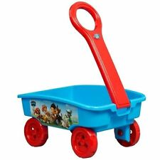 PAW PATROL Pull Along Toy Box Portable Cart Caddy Wagon Childrens Role Play 4379