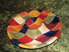 ARTIMINO CIAO HARLEQUIN CHIP & DIP BOWL