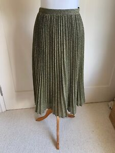 Gorgeous Whistles Sun Ray Pleat Gold Skirt