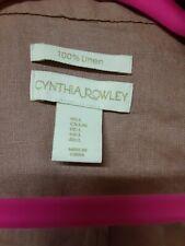 Cynthia Rowley 100% linen, pinky/mauve, long sleeve, wrap shirt dress~ size L