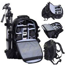 Multifunctional Black Deluxe Camera Backpack Bag Case Sony Canon Nikon DSLR SLR