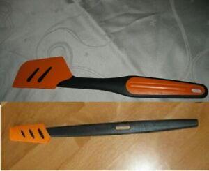Tupperware Griffbereit Top Schaber Set groß + klein schwarz orange D78 D167 NEU