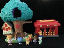 Daniel Tiger Treehouse Trolley Figures Lot