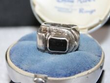 SIGNED KAP - vintage BRUTALIST STERLING Silver STATEMENT Ring sz 6 3/4