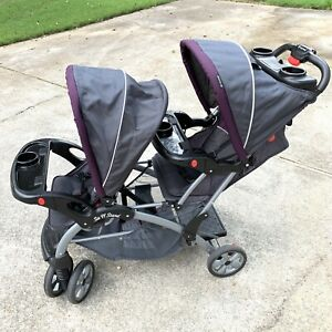 Baby Trend Sit N' Stand Easy Fold 5 Point Harness Double Stroller 2017