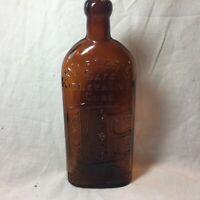 Antique Warner's Safe Kidney & Liver Cure Medicine Rochester NY Amber Bottle