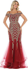 GALA MERMAID DRESS RED CARPET GOWN PAGEANT SPECIAL OCCASION FORMAL PROM EVENING