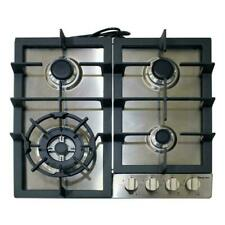 """Magic Chef Cooktop 24"""" 4-Burner Gas Stainless Steel Standard Dial Control *Nib*"""
