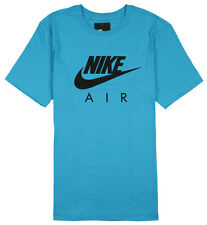 Nike Air Max Logo T-Shirt sz S Small Light Blue Fury Black
