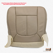 2011 2012 Ford F350 Lariat Passenger Bottom Perforated Leather Seat Cover Tan